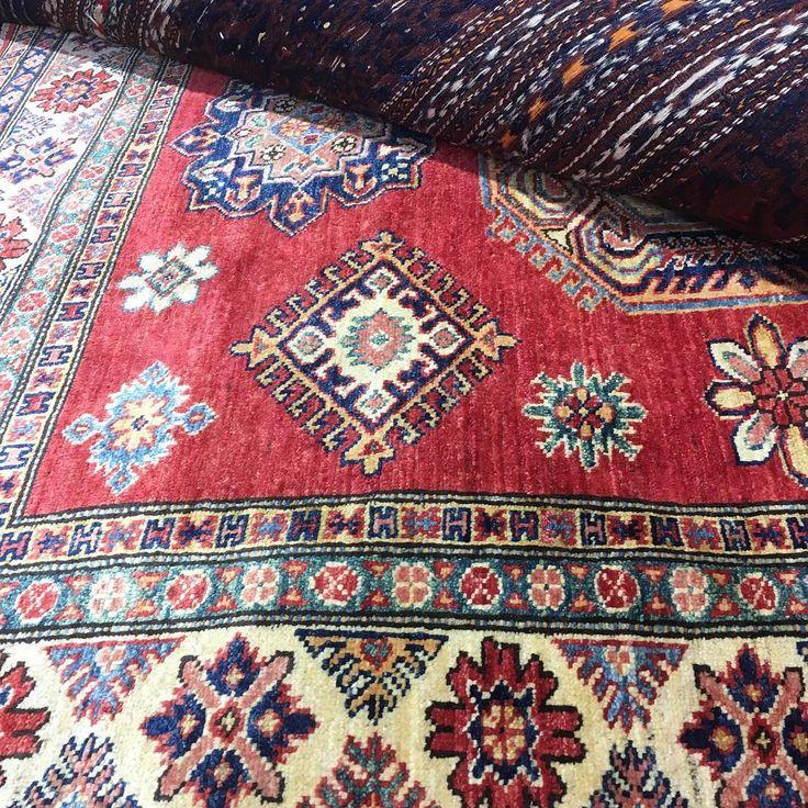 All natural vegetable dye Ferihan Kazak rug from Afghanistan.  #wool #kazak #rug #rugs #handmade #ruglife #rozelle #sydney #sydneystyle #sydneylocal #interiorinspiration #interiordesign #interior #livingroomdecor #picoftheday #designinspiration #carpets #homedecor #homedesign #homestyle #iloverugs #tribalinterior