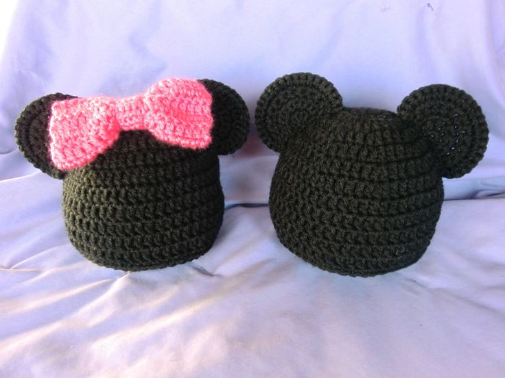 Minnie or Mickey Mouse Hat, FREE STANDARD SHIPPING. $13.00, via Etsy.