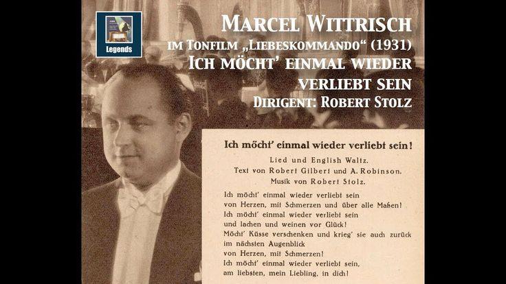 """Marcel Wittrisch """"Ich möcht' einmal wieder verliebt sein"""" from """"Liebesko..."""