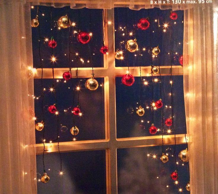 LED Lichtervorhang Kugeln NEU 130 cm breit für Innen 70 LED ´s Christmas in Möbel & Wohnen, Feste & Besondere Anlässe, Jahreszeitliche Dekoration | eBay!