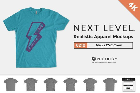 Next Level 6210 Men's CVC Crew by Photific on @creativemarket