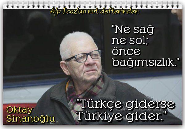 ''#Türkçe giderse #Türkiye gider.'' #OktaySinanoğlu Dahi #Türk bilim insanının aziz anısına... Alp Icoz (@AlpIcoz) | Twitter