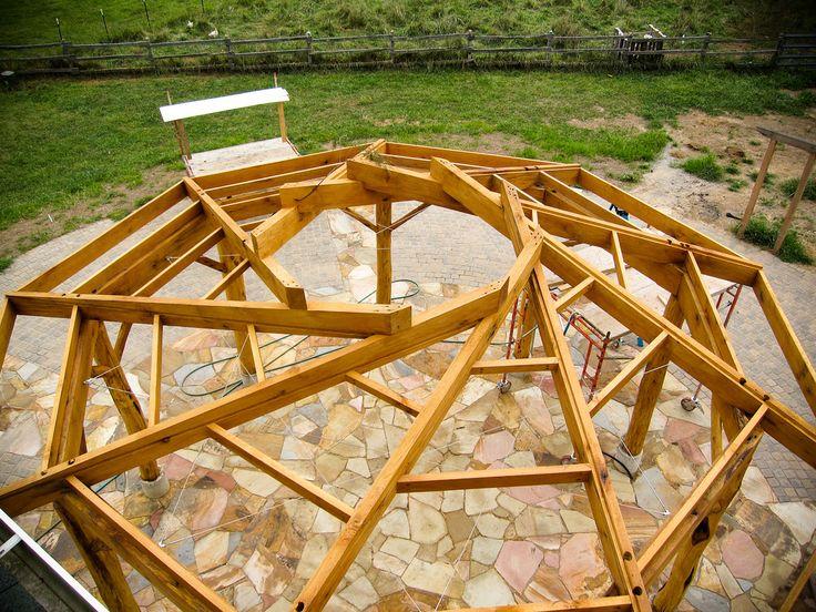 flic.kr/p/ar3QDi | bois en spirale | processus de construction du toit du pavillon