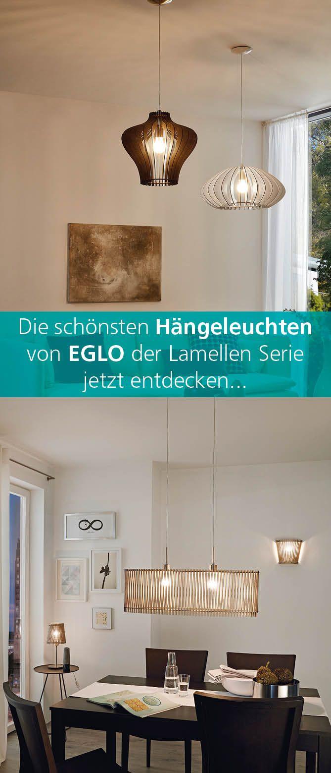 Entdecken Sie Die Schonsten Hangeleuchten Der Lamellen Serie Von Eglo Stilvolle Inneneinrichtung Hangeleuchte Inneneinrichtung