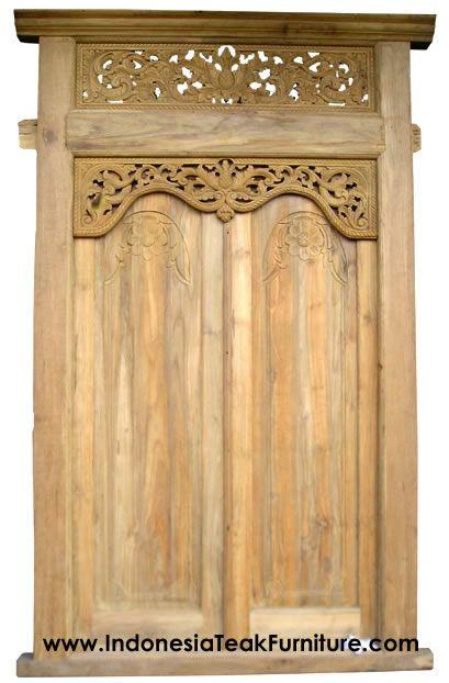 Java House Wood Panel Gebyok