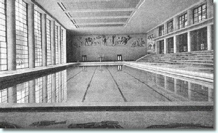 Foro Italico Olympic pool by C. Constantini, 1937