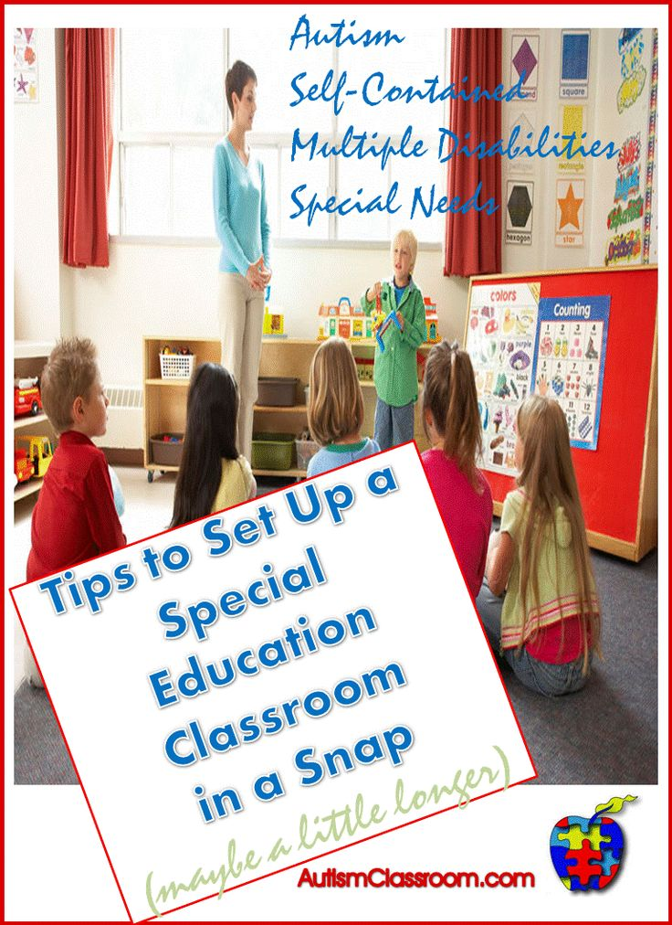 Tips to Set Up a Special Education Classroom in a Snap (maybe a little longer.) Ideas, strategies and a step by step guide. $ #autism #classroom #specialeducation