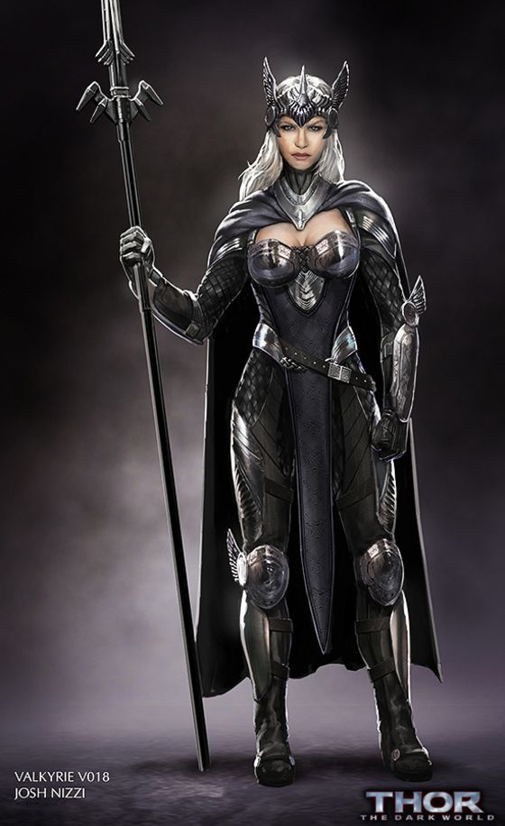 This concept art hints that Valkyrie was almost in Thor 2 | Moviepilot