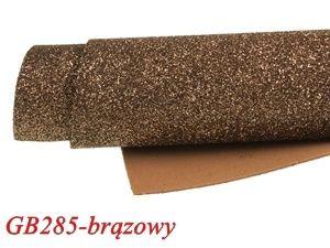 Mikroguma brokatowa 20x30cm brązowy