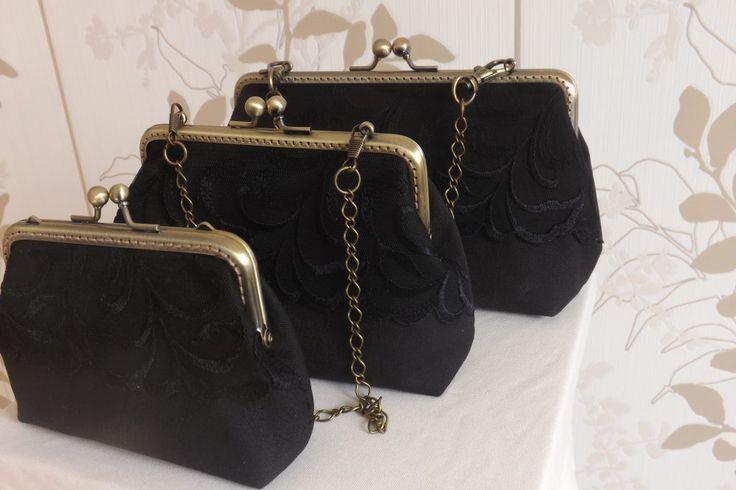 Fekete ében alkalmi táskák
