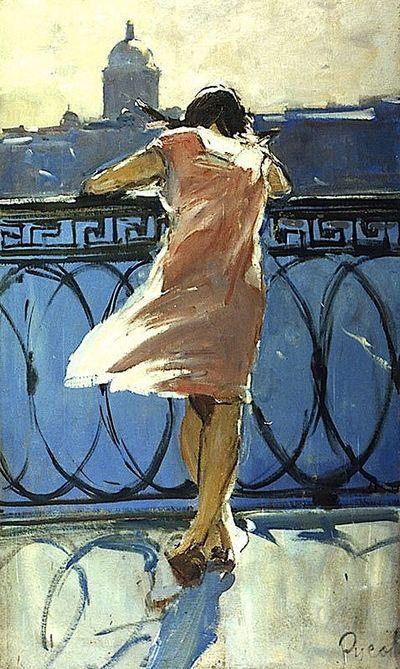 "Lev Alexandrovich Russov (1926-1988): ""At the Neva River Embankment"", 1963."