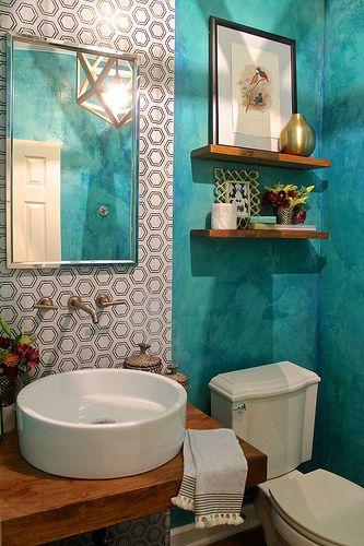 Timeless, Yet Bold Parlor Bath | Kara Paslay Design