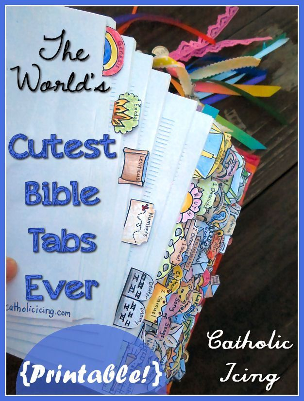 The World's Cutest Bible Tabs Ever- And They're Printable! | Catholic Icing | Bloglovin'