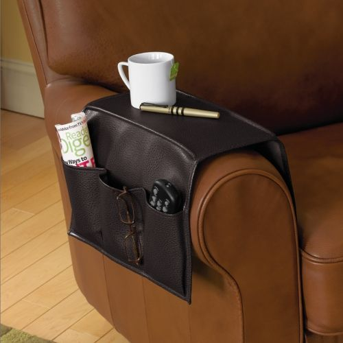 Faux Leather Armrest Caddy
