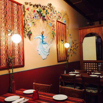 Avesta Resto Café - Montreal, QC, Canada. Beautiful handpainted traditional artwork on walls