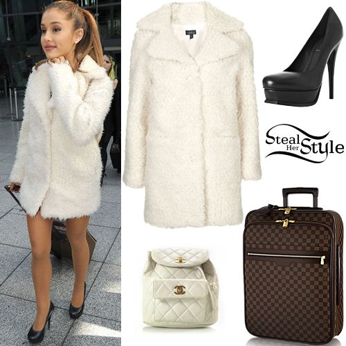 Ariana Grande arriving at the Heathrow Airport in London. October 7th, 2014