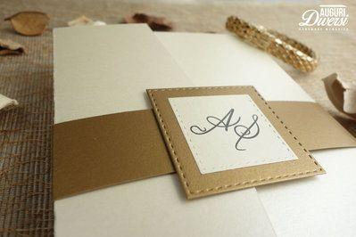 Auguri Diversi – Partecipazione di matrimonio in elegante carta perlata. Colore Oro Antico www.facebook.com/AuguriDiversi