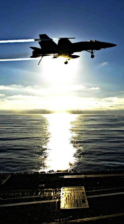 F-18 Hornet At Sunset