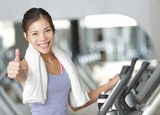 30-Minute Gym Plan With Elliptical Intervals + strength training portion.  That girl is really excited about this.