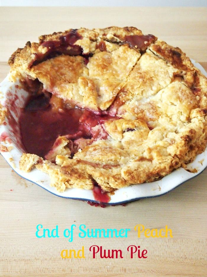 Peach And Plum Pie Recipe — Dishmaps