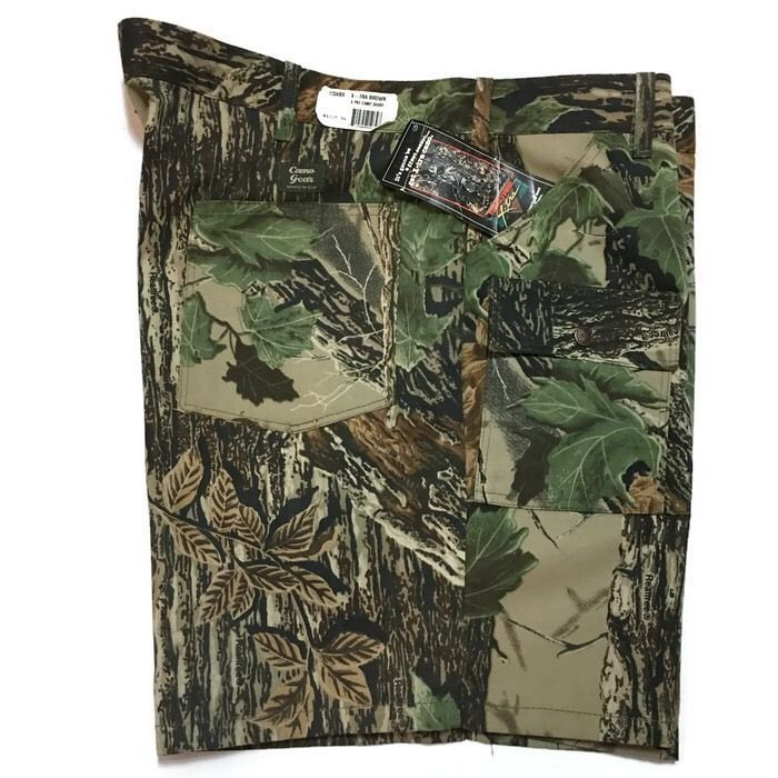 Realtree X-tra Camouflage Cargo Shorts 46 Camping Camo Gear Utility New  | eBay