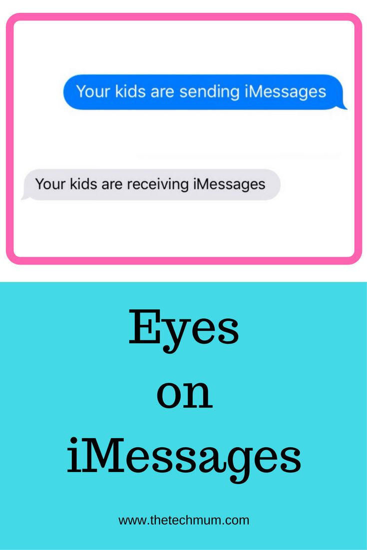 It's easy to keep on eye on the iMessages your children are sending & receiving!