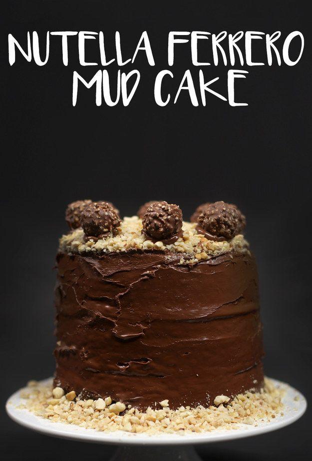 Nutella Ferrero Mud Cake