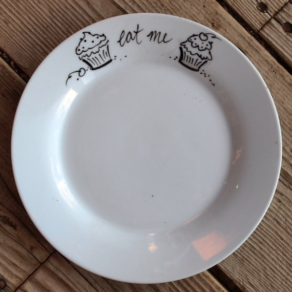 write on dishes with sharpie, then bake