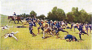 The Spanish–American War was a conflict in 1898 between Spain and the United States,