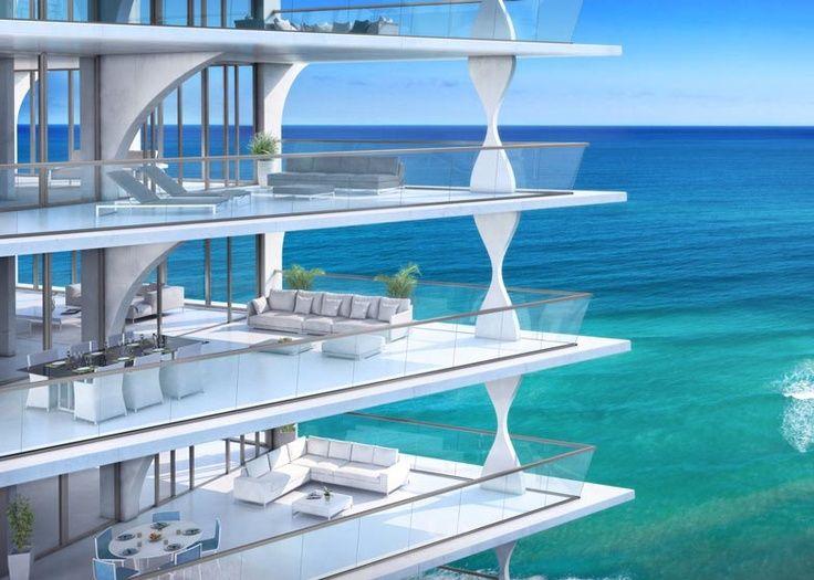 Beach condos, Miami, Florida, USA