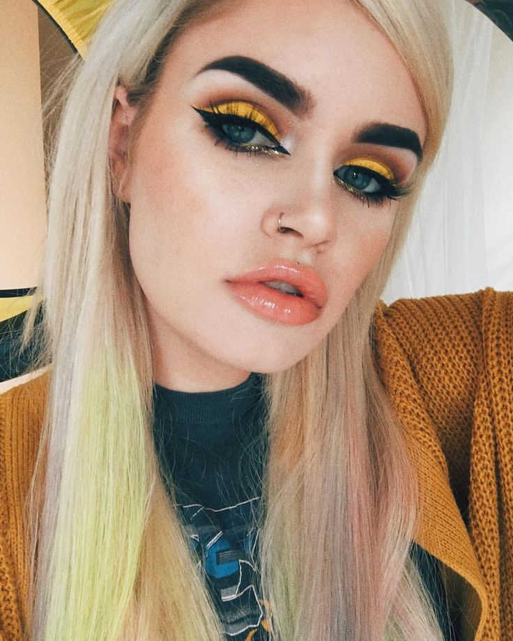 Makeup ideas for yellow dress
