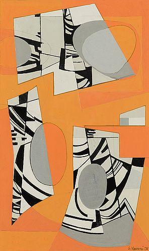 Sam Vanni: Sommitelma, 1971, guassi, 50,5x35 cm - Bukowskis Market 5/2016