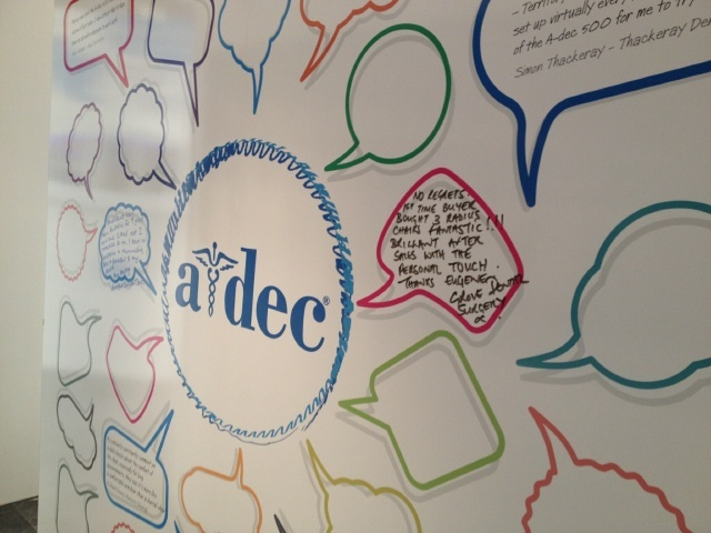 Did you write on our A-dec story?