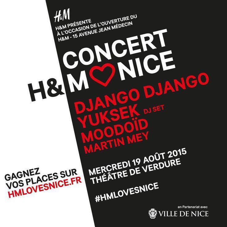 H&M ouvre sa 3ème boutique sur l'avenue Jean Médecin à Nice et Mister Riviera vous offre des places de concert au théâtre de Verdure - Découvrez l'article sur le blog de Mister Riviera : lifestyle, tendances, bons plans, sorties à Nice, Cannes, Antibes, Monaco, Côte d'Azur, French Riviera