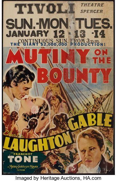 "Movie Posters:Academy Award Winners, Mutiny on the Bounty (MGM, 1935). Window Card (14"" X 22""). AcademyAward Winners.. ..."