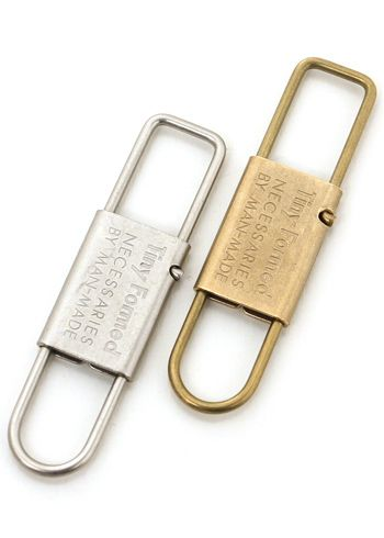 タイニーフォームド Tiny Formed Thailand knee metal key shackle Tiny metal key shackle TM-02S TM-02B silver brass brass carabiner key hook key ring key ring