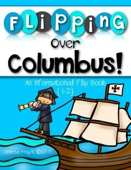 Flipping Over Columbus:  A NO PREP Informational Flip Book Project for Grades 1-2  #columbus  $