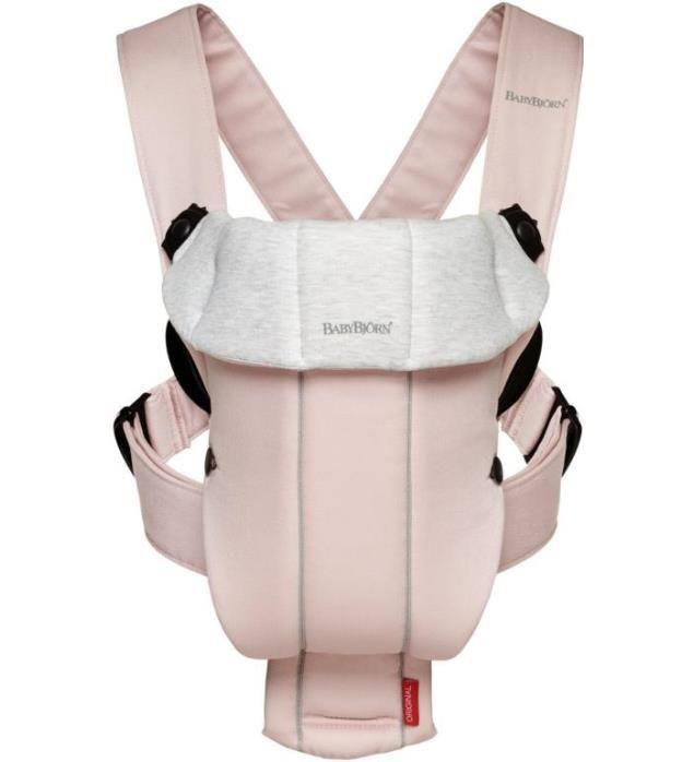 Baby Bjorn Baby Carrier Original - Light Pink & Grey