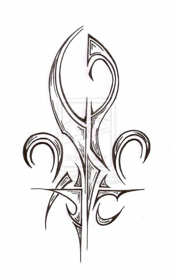 17 best images about tattoo collection on pinterest back tattoos art nouveau tattoo and - Tattoo tribal fleur ...