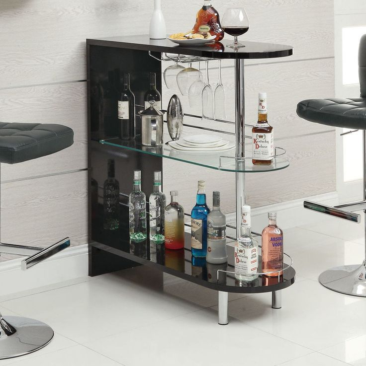 Contemporary Bar Pub Table Wine Rack Mini Liquor Storage Shelves Dining Bar Pub | eBay