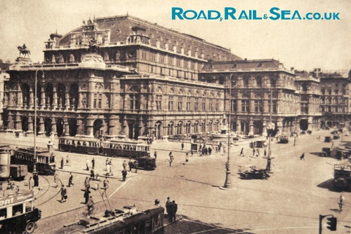 The Opera, Vienna. Vintage postcard.