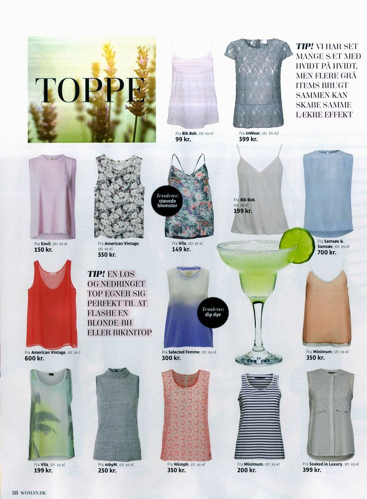 Soaked in Luxury top in the danish magazine Woman