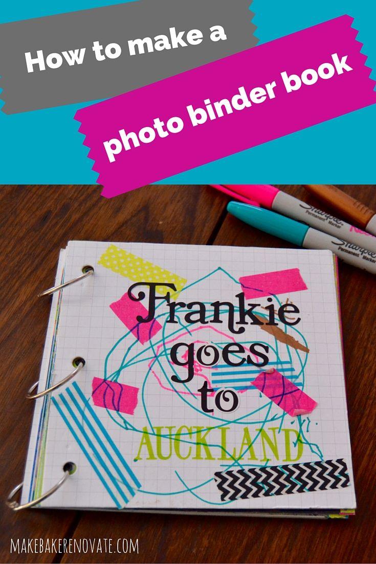 How to make a photo binder book {Tutorial}   MakeBakeRenovate.com
