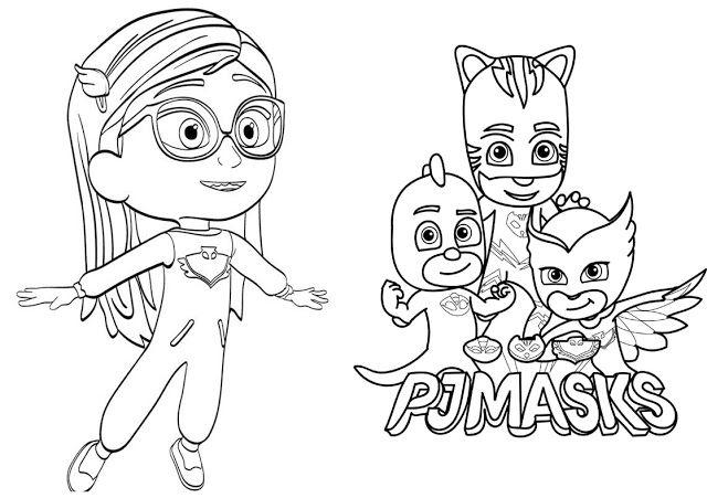 Ucretsiz Pj Masks Boyama Kitabi Desenler Kitap
