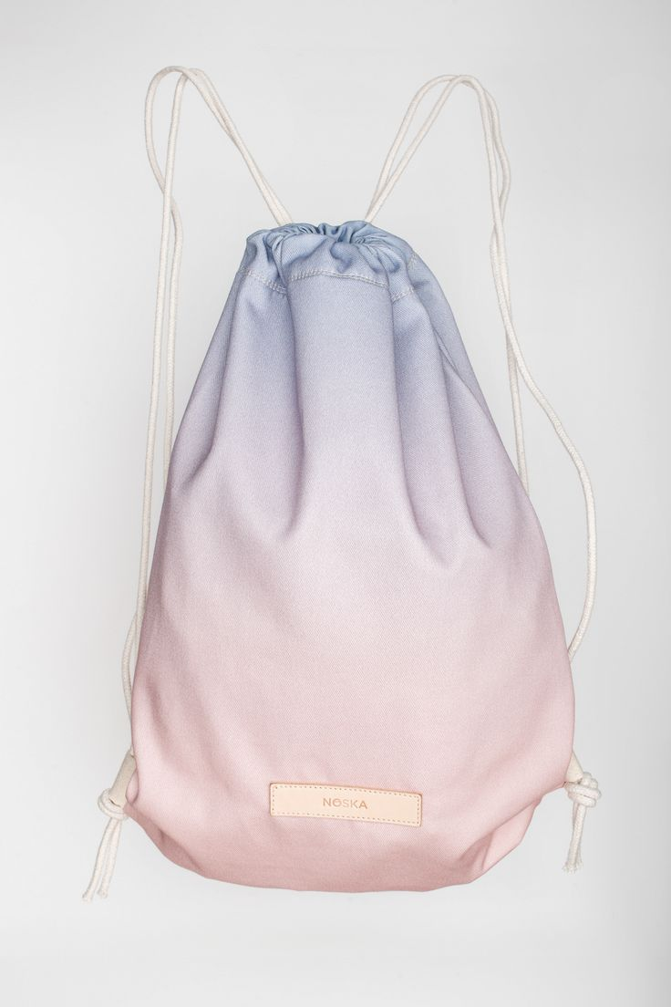 Glow | NOSKA SHOP #ColoroftheYear for 2016 #RoseQuartz & #Serenity #Glow #drawstring #bag
