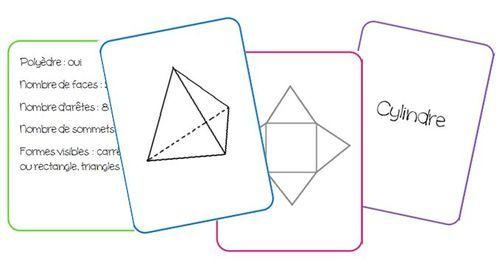 Un petit jeu de cartes pour travailler sur les solides. Les cartes peuvent servir à plusieurs jeux : mistigri, mémory, quizz…