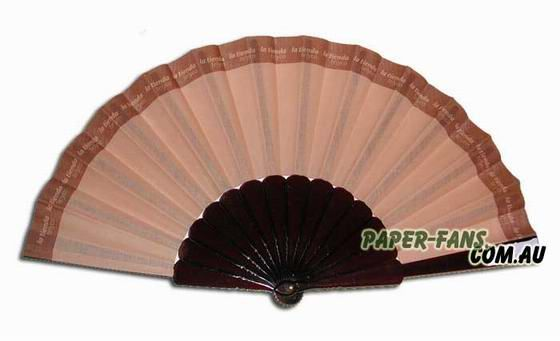 Plastic Frame Promotional Hand Fan  Our quality plastic frame fans are a great promotional product at a low price.  The benefit to these plastic promotional fans is you can have the fans made with almost any frame color to match your company or event colors. These fans feature cloth material that is printed with the design of your choice