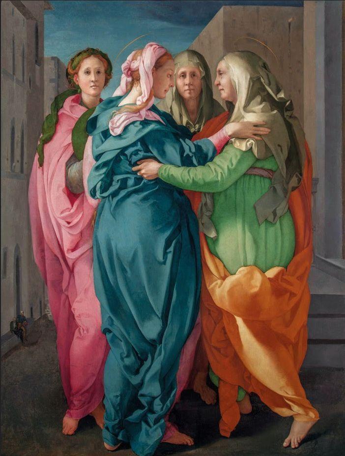 Pontormo: Visitation 1516 (restored 2014) Pieve di San Michele Arcangelo, Carmignano.
