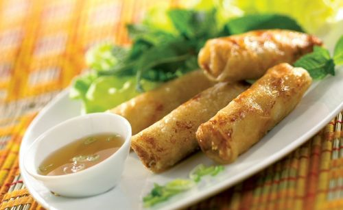 Nems vietnamien au crabe et aux crevettes