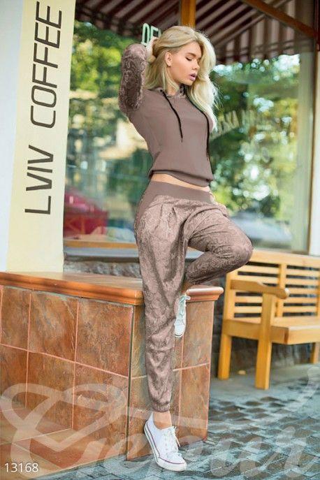 Gepur | Своеобразный кофейный костюм арт. 13168 Цена от производителя, достоверные описание, отзывы, фото